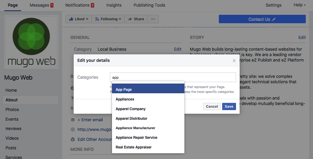 Getting started with Facebook Comment Mirroring   Mugo Web   eZ
