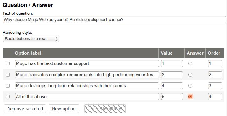 building employee training quizzes with ez publish mugo web ez