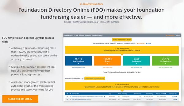 Foundation Center works with Mugo to make online grant