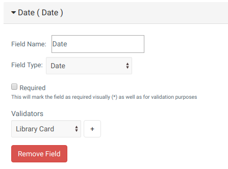 Mugo Custom Forms: Date Type