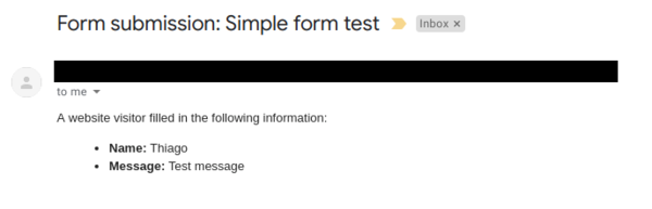 Mugo Custom Forms: Email Message
