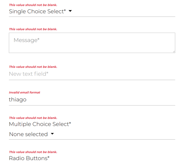 Mugo Custom Forms: Frontend Validators