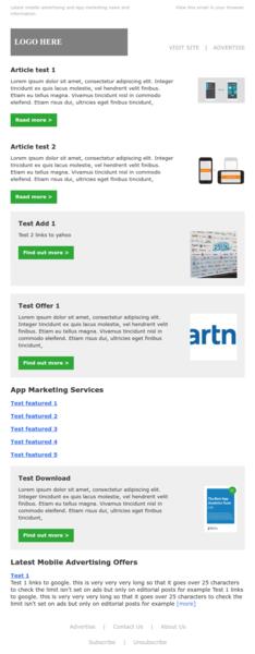 MailChimp Newsletter Template Tool For WordPress Mugo Web EZ - Mailchimp sample template