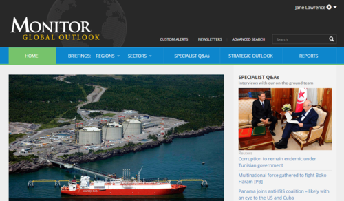 Monitor Global Outlook frontpage