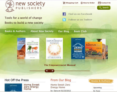New Society Publishers home page